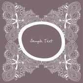 Vintage doodle lace frame — Stock Vector
