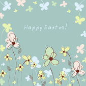 Colorful easter floral background — Stock Vector