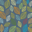 Seamless wallpaper with leaves. — Stock Vector