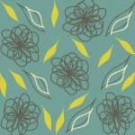 Seamless vintage wallpaper. — Stock Vector