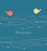 Birds in love. — Stock Vector