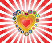 Multicolored abstract heart — Stock Vector