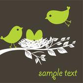 Birds family — Stock Vector