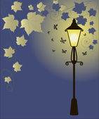 Old street lamp — Stock Vector