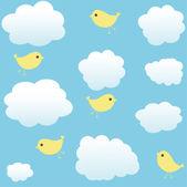 Sky and birds — Stock Vector