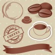 Vector set of vintage coffee elements. — Stock Vector