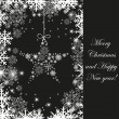 Christmas tree on black background. Holiday card — 图库矢量图片 #28969857