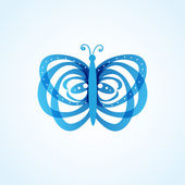 Butterflys on background — Stock Vector