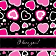 Valentines cards with  hearts and place for your text. — Stockvectorbeeld