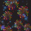 Fireworks in the night sky. — Imagen vectorial