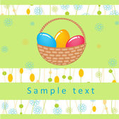 Retro easter card. Vector illustration. — Stock Vector