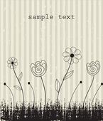 Vintage floral card with place for text. Vector. — Vector de stock