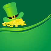 Green leprechauns hat. Vector illustration. — Stock Vector