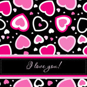 Valentines cards with hearts and place for your text. — Stock Vector
