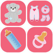 Babys icons set — Stock Vector