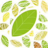 Green leaf. Vector background — 图库矢量图片