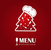 Christmas or new year menu card — Stock Vector