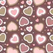 Seamless hearts background in pastel colors — Stock Vector