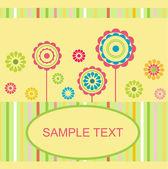 Retro floral card — Stock Vector