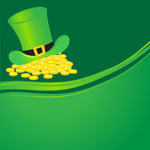 Background with leprechaun or gnome on patrick day — Stock Vector