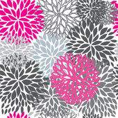 Seamless pattern with abstract hand drawn flowers — Stock Vector