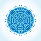Vintage background with bright colors mandala — Stock Vector