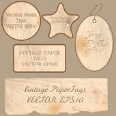Set of vector vintage cards — Stock Vector
