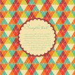 Geometric background in vintage colors — Imagen vectorial