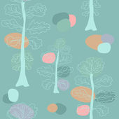 Pastel trees seamless pattern. — Stock Vector