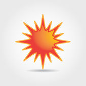 Sun symbol illustration — Stock Vector