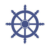 Ship Wheel Banner isolated on white background. Vector Illustration — Stock Vector