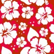 Seamless pattern with Hibiscus flowers — Imagen vectorial