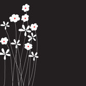 Flowers on dark background — Stock Vector