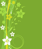 Flowers on green background — ストックベクタ