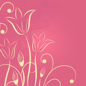 Flowers on pink background — Cтоковый вектор