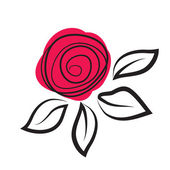 Abstract rose flower — Vector de stock