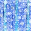 Christmas background with watercolor stripes and snowflakes — Imagen vectorial
