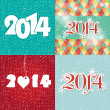 Stock Vector: Set of 2014 new year backgrounds