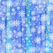 Christmas background with watercolor stripes and snowflakes — Stock Vector