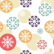 Seamless christmas pattern with snowflakes — Stock Vector #34567137