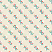 Seamless vintage pattern with  colorful flowers — Stock Vector