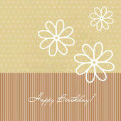 Congratulation birthday card with flowers — Stok Vektör