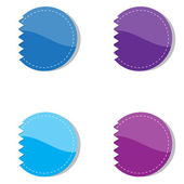 Set of violet and blue banners. Vector illustration. — Stock Vector
