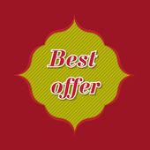 Best offer banner — Stock Vector