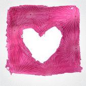 Красивые открытки старинные Валентина с розовым сердцем. — Cтоковый вектор