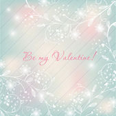 Light pastel floral background. Valentines design. — Stock Vector