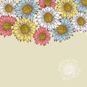 Seamless vintage ornament with sunflowers — Stock Vector