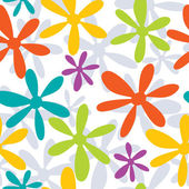 Seamless background from colorful flowers — Stock Vector