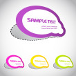Colorful vector stickers for your text — Stock Vector #8685981