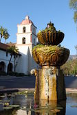 Santa Barbara Mission Fountain — Stock Photo